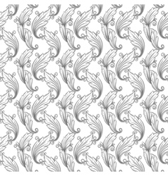 seamless monochrome pattern damask vector image
