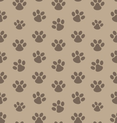 seamless texture with trace cat vector image
