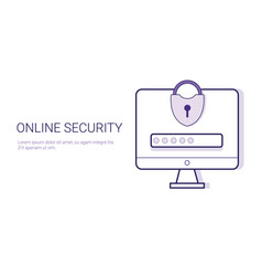 security online business concept data protection vector image