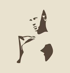 sexy lady silhouette vector image