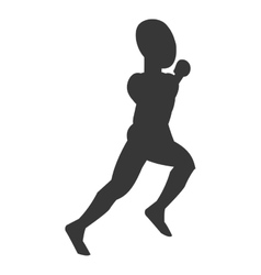 silhouette of person running vector image