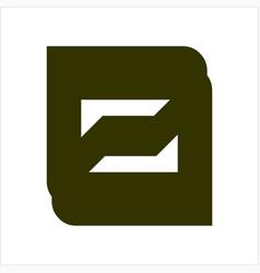 simple d dz ds initials company logo vector image