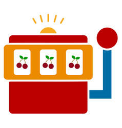 slot machine flat icon vector image