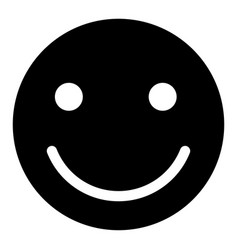 smile the black color icon vector image