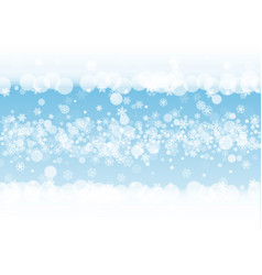 snow border with white snowflakes vector image