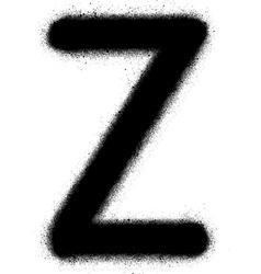 Sprayed Z font graffiti in black over white vector