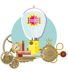Start up concept steampunk new idea vector image