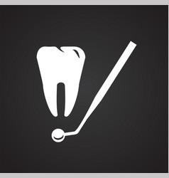 Stomatology icon on black background vector