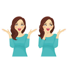 surprised woman set vector image