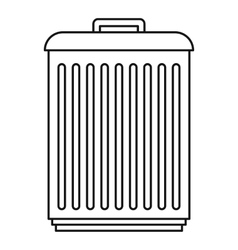 Trashcan icon outline style vector