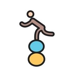 Walking on balls vector