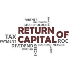 Word cloud - return of capital vector