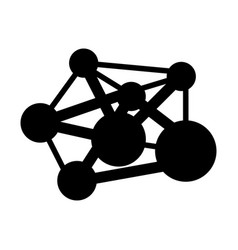 atom science molecule vector image