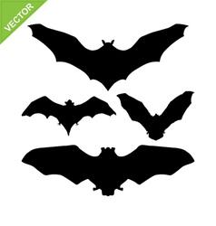 Bat silhouettes vector