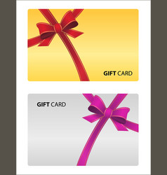 beautiful gift card isolated business card vector image
