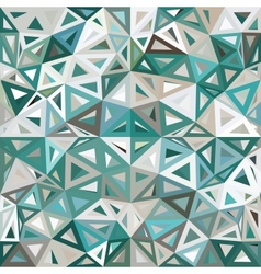 Blue and gray mottled abstract triangles vector image