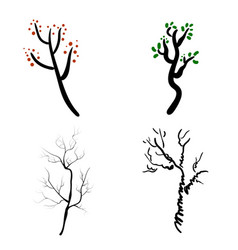 deer antlers isolated on white set of vector image vector image