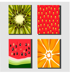 fruit posters vector image vector image