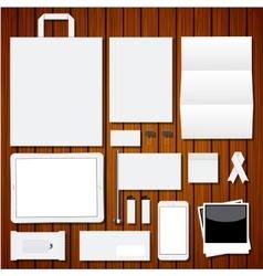 modern corporate identity template vector image