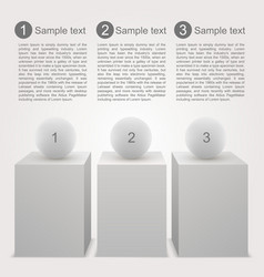 Business infographics box vector