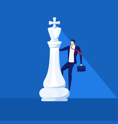 businessman stand on king chess piece successful vector image