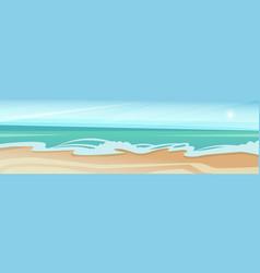 sea shore sand beach summer vacation blue sky vector image vector image