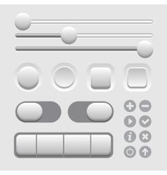 User Interface Elements Set on Light Background vector image