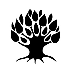 Art tree silhouette for your design vector image