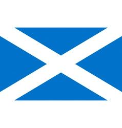 flag of scotland vector image vector image