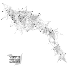 Network abstract polygonal background vector image vector image