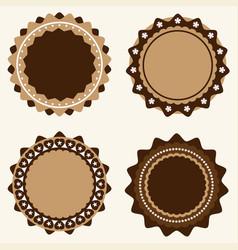 set of vintage and modern logo badges and labels vector image vector image