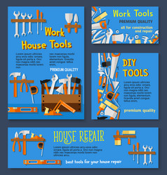 templates of house repair work tools vector image vector image
