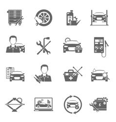 Auto Mechanic Icons Set vector image