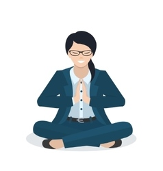 Business woman in a yoga pose vector image