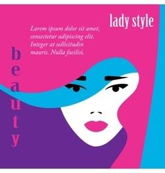 Fashion lady retro style vector image
