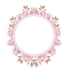 Floral vintage frame Wedding rings vector image