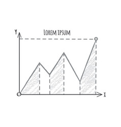 graphic on coordinate system vector image vector image