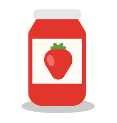 jar with fruit and berry jam vector image