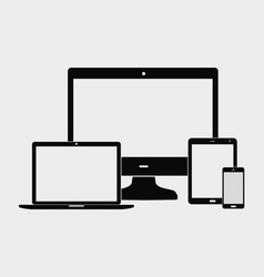 notebook and monitor vector image