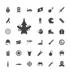 33 military icons vector