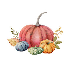 A watercolor postcard for thanksgiving vector