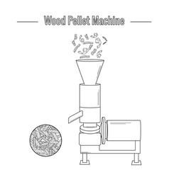 A wood pellet production machine vector