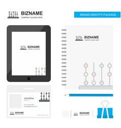 Abacus business logo tab app diary pvc employee vector