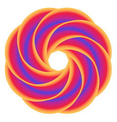 abstract donut colorful rainbow background vector image