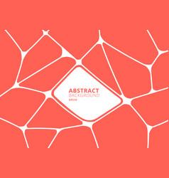 abstract orange and white geometric voronoi vector image