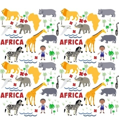 Africa cartoon pattern vector
