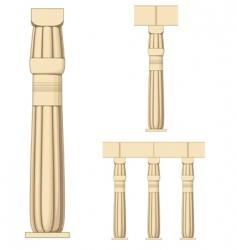 Ancient egypt coloumn vector