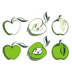 Apple set vector