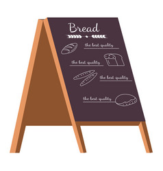bakery shop menu isolated icon bread and pastry vector image