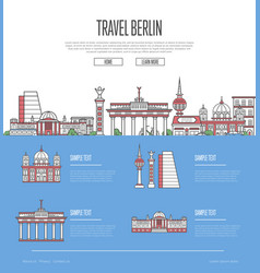 Berlin city travel vacation guide vector